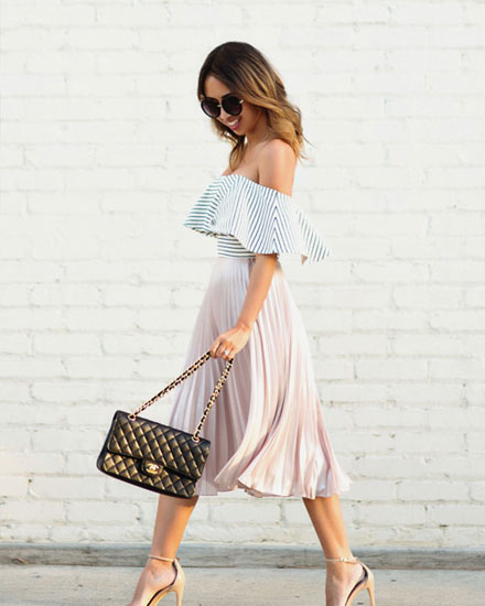 LOVIKA | How to wear a pleated midi skirts #outfit #ideas