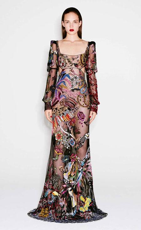 Alexander McQueen Pre-Fall 2016 Gown