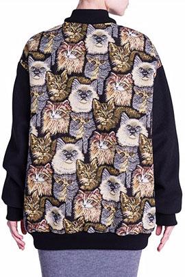 Stella McCartney Cat Tapestry Bomber Jacket
