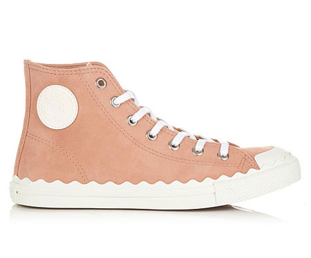CHLOÉ Kyle high-top suede trainers