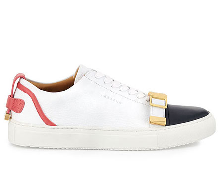 Buscemi Belted-Toe Leather Sneaker