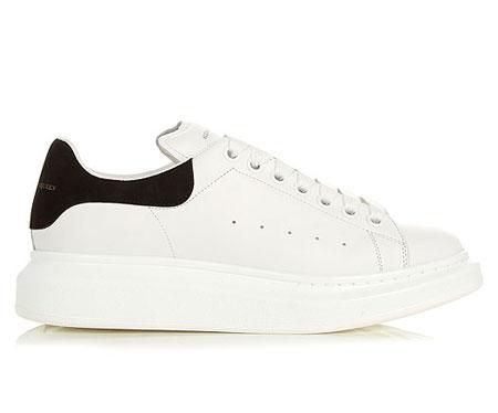 Alexander McQueen Leather Platform Sneakers
