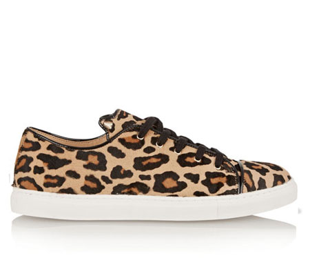 Charlotte Olympia Purrrfect leopard-print calf hair sneakers