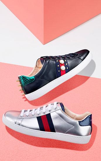 Gucci Metallic Sneakers