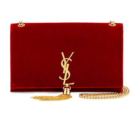 Saint Laurent Kate Tasseled Monogram Bag