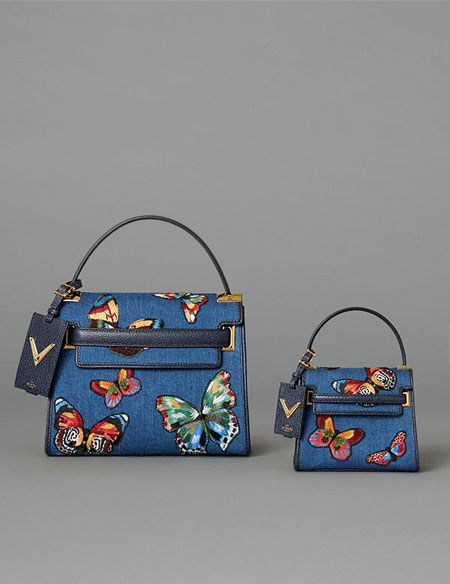 Valentino Denim Micro Bag