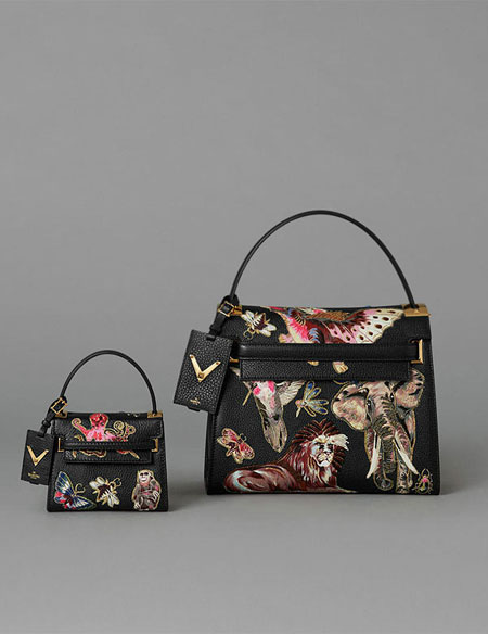 Valentino Animali Fantastic Top-Handle Bag