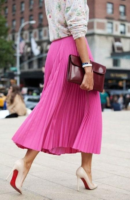 Pleated Midi Skirt | Lovika