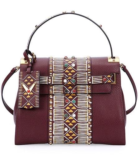 valentino-rockstud-tribal-satchel-tote