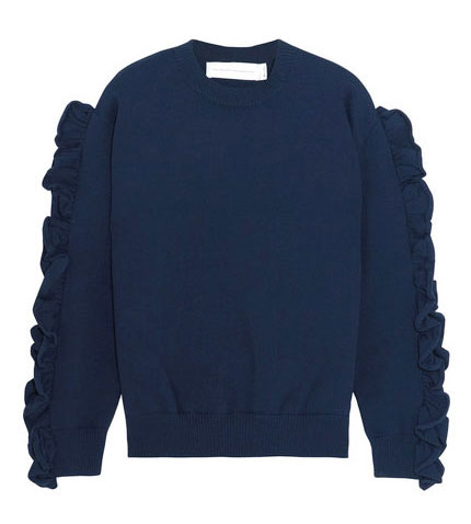 victoria-victoria-beckham-Ruffle-trimmed-ribbed-knit-sweater