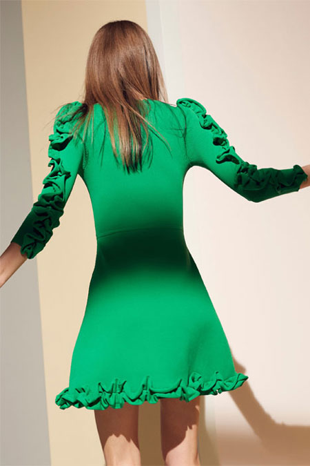 victoria-victoria-beckham-pre-fall-2016-collection-green-ruffled-dress