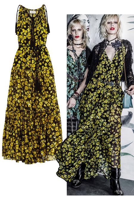 Lanvin Floral-Print Maxi Dress Resort 2016 Sale