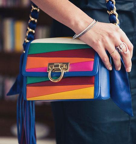 Salvatore Ferragamo x Sara Battaglia Solaria Small Leather Crossbody Bag