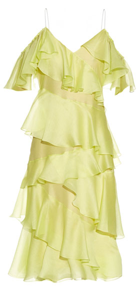 Anna October's chartreuse-yellow Stealing Beauty dress