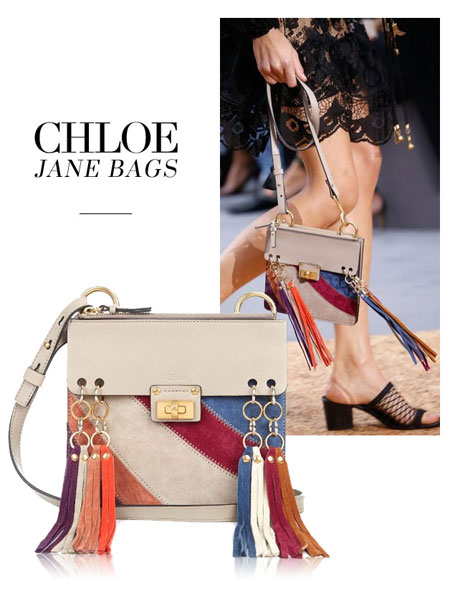 Chloe Jane Small Tassel-Trim Leather Crossbody Bag