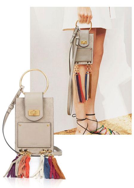 Chloe Jane Suede Mini Bracelet Bag