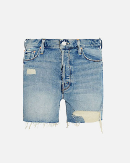 LOVIKA CLOSET | Denim shorts #frayed #hem