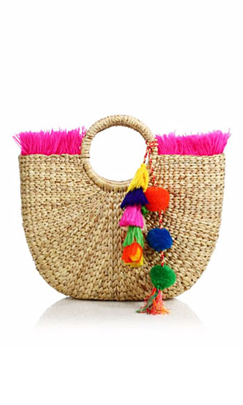 JADEtribe Tassel Pom-Pom Beach Tote Bag #Summer