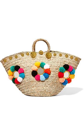 Muzungu Sisters Sicilian embellished woven straw basket tote bag #Summer