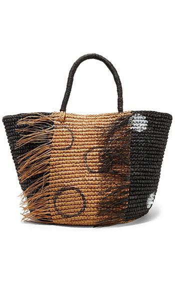 Sensi Studio Frayed woven toquilla straw tote bag #Summer