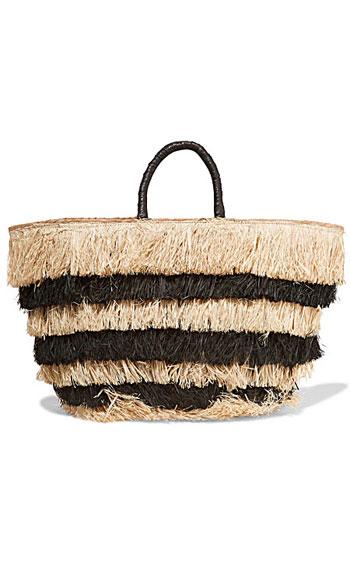 Kayu Pinata fringed woven seagrass tote bag #Summer