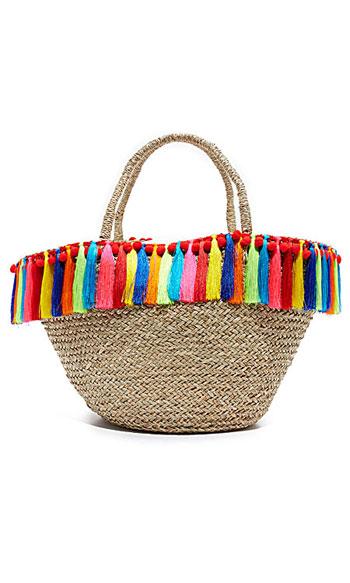 Mystique Straw Summer Tote Bag #Fringe