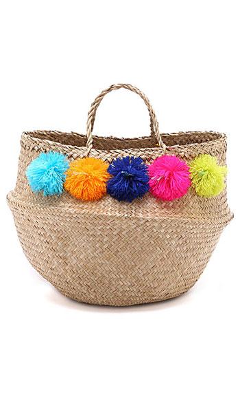 Eliza Gran Venice Summer Tote Bag #PomPom