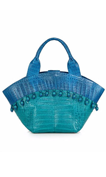 Nancy Gonzalez Beaded Beach Tote Bag