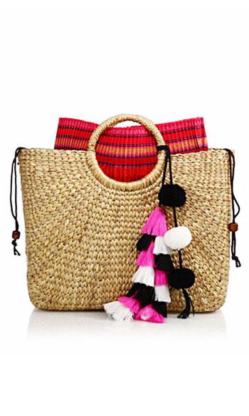 JADEtribe Handwoven Tassel Basket Tote Bag #Summer