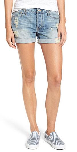 Rails Logan Distressed Roll Cuff Denim Shorts