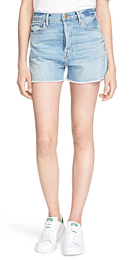 Frame 'Le Original' High Rise Cutoff Denim Shorts with a Frayed Hem