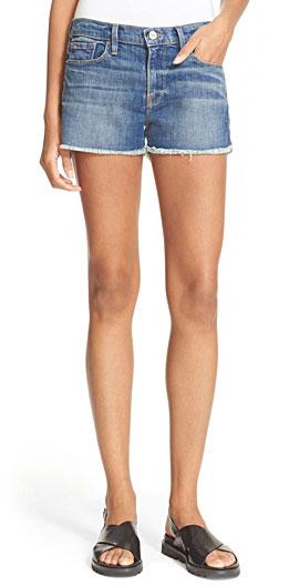 Frame 'Le Cutoff' Denim Shorts with Frayed Hems