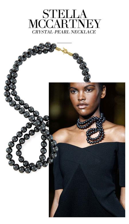 Stella McCartney Swarovski Crystal-Pearl Two-Strand Necklace
