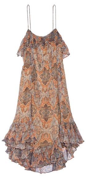 Zimmermann Harlequin Heriz printed crinkled silk-georgette dress