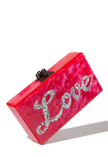 Edie Parker Jean Love Clutch Box