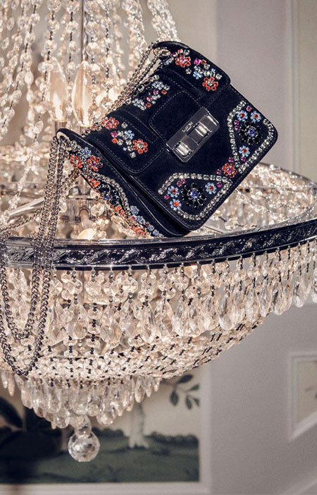 Lanvin Crystal Embellished Bag