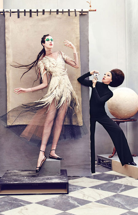 Valentino feather gown