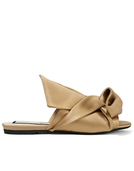 No 21 Knotted satin sandals