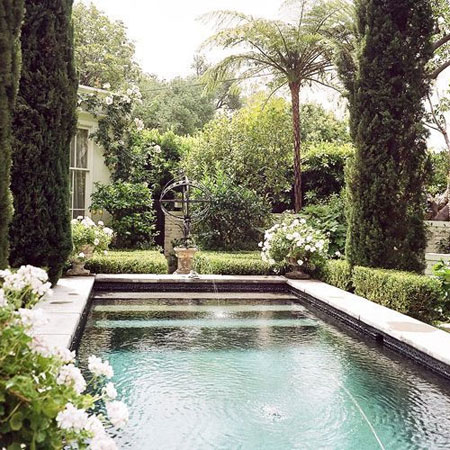 swimming pool with beautiful backyards and garden ideas