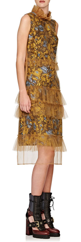 Burberry x Barneys Tulle Tiered Dress
