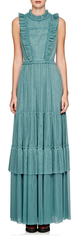 Burberry X Barneys Tulle Maxi Dress