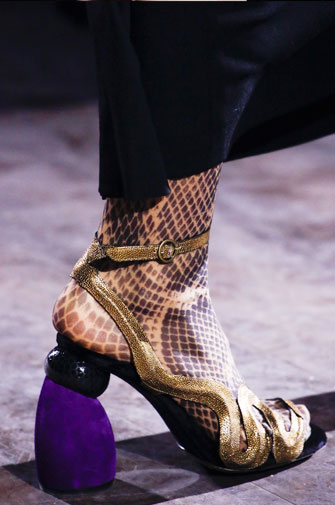 Dries van Noten Shoes Fall-Winter 2016 Runway | Lovika