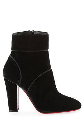 Christian Louboutin Velvet Ankle Boots #Booties