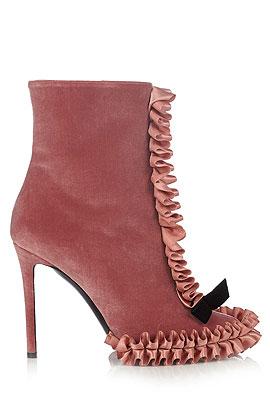 Marco de Vincenzo Velvet Ankle Boots #Booties