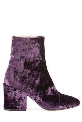 Dries van Noten Velvet Ankle Boots #Booties