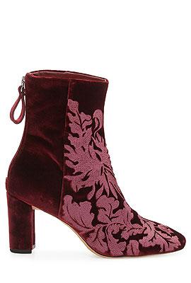 Alexandre Birman Velvet Ankle Boots #Booties