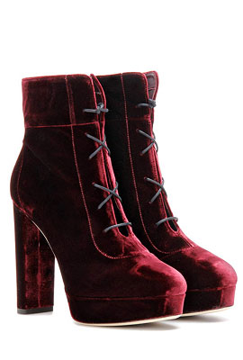Jimmy Choo Velvet Ankle Boots #Booties