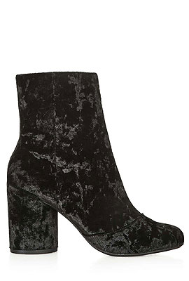 Topshop Velvet Ankle Boots #Booties