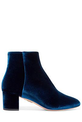 Aquazzura Velvet Ankle Boots #Booties