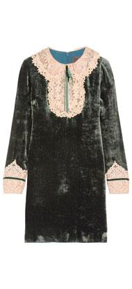 Velvet Dress #AnnaSui #FW16